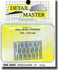Detail Master Accessories  1/24 15' Windshield Wiper Blades (10) DM2003