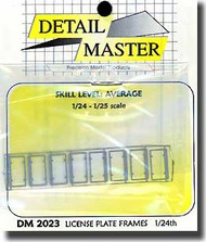 Detail Master Accessories  1/24 Licence Plate Frames (12) DM2023