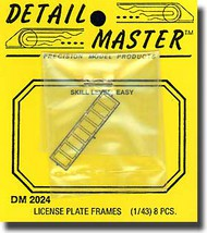 Detail Master Accessories  1/25 License Plates Frame DM2024