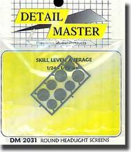 Detail Master Accessories  1/24 Round Headlight Screens DM2031