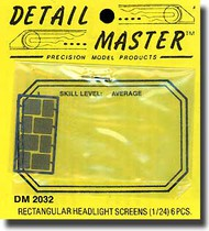 Detail Master Accessories  1/24 Rectangular Headlight Screens DM2032