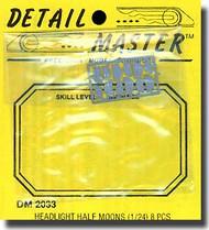 Detail Master Accessories  1/24 Headlight Half Moons (8) DM2033
