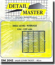 Detail Master Accessories  1/24 Valve Cover T Bolts DM2042