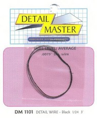 "Detail Master Accessories  1/24-1/25 2ft. Detail Wire Black (.0075"" Dia.) DTM1101"
