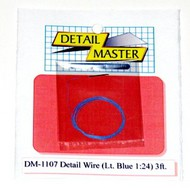 "Detail Master Accessories  1/24-1/25 2ft. Detail Wire Light Blue (.0075"" Dia.) DTM1107"