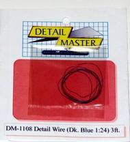 """Detail Master Accessories  1/24-1/25 2ft. Detail Wire Dark Blue (.0075"""" Dia.) DTM1108"""