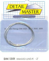 """Detail Master Accessories  1/24-1/25 2ft. Braided Line #1 (.020"""") DTM1301"""