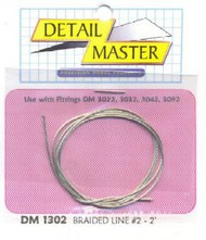 """Detail Master Accessories  1/24-1/25 2ft. Braided Line #2 (.025"""") DTM1302"""