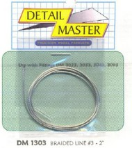 """Detail Master Accessories  1/24-1/25 2ft. Braided Line #3 (.035"""") DTM1303"""
