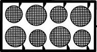Detail Master Accessories  1/24-1/25 Round Headlight Screens DTM2031