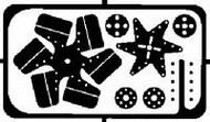 """Detail Master Accessories  1/24-1/25 Flex Fan Kit 13""""¥ Dia. (1pc) DTM2051"""