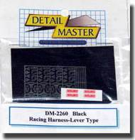 Detail Master Accessories  1/24 Racing Harness Lever Type: Black DTM2260BLK