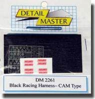 Detail Master Accessories  1/24 Racing Harness Cam Type: BLACK DTM2261BLK