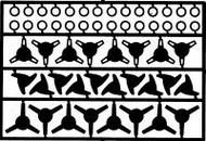 Detail Master Accessories  1/24-1/25 Wheel Knock-Offs #1 DTM2290