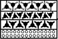 Detail Master Accessories  1/24-1/25 Wheel Knock-Offs #2 DTM2291