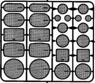 Detail Master Accessories  1/24-1/25 Speaker Grilles #2 (12 Sets) DTM2500