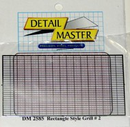 Detail Master Accessories  1/24-1/25 Front Rectangle Grille DTM2585