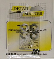 Detail Master Accessories  1/24-1/25 Billet Wheel Eagle Etch w/Hubs (D)<!-- _Disc_ --> DTM2651