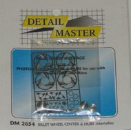 Detail Master Accessories  1/24-1/25 Billet Wheel MantaRay Etch w/Hubs (D)<!-- _Disc_ --> DTM2654