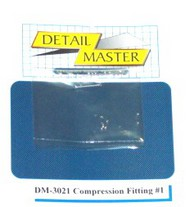 Detail Master Accessories  1/24-1/25 Compression Fitting #1 (8pc) DTM3021
