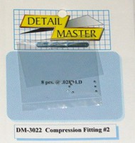 Detail Master Accessories  1/24-1/25 Compression Fitting #2 (8pc) DTM3022