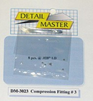 Detail Master Accessories  1/24-1/25 Compression Fitting #3 (8pc) DTM3023