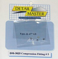 Detail Master Accessories  1/24-1/25 Compression Fitting #5 (8pc) DTM3025