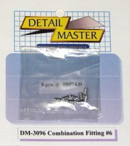 Detail Master Accessories  1/24-1/25 Combination Fitting #6 (8pc) DTM3096