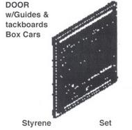 DETAILS WEST  HO 8' Sliding Door w/Guides & Tackboards Boxcars DTW181