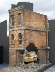 "Dioramas Plus  1/35 Ruined Small 3-Story Brick Apartment Building (8.5""x4.5""x12"") DPL1"