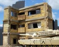 "Dioramas Plus  1/35 Ruined Large 3-Story Brick Apartment Building (12""x8""x11"") DPL12"