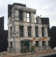 "Dioramas Plus  1/35 Ruined Small 3-Story Government Building (12""x7"") DPL2"