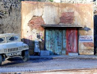 """Dioramas Plus  1/35 Afghan Street Ruined Building Front w/Base (8""""x11"""") DPL20"""