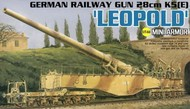 DML/Dragon Models  1/144 German 28cm K5(E) Leopold Railway Gun (New Tool) DML14131