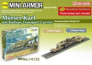 DML/Dragon Models  1/144 Morser Karl w/Railway Transport Carrier - Pre-Order Item DML14132