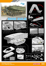 DML/Dragon Models  1/35 M-48 (AVLN) Armored Vehicle Launched Bridge DML3606