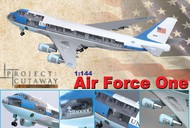DML/Dragon Models  1/144 Visible 747-400 Air Force One Airliner (prepainted & partially assembled) w/Cutaway Views- Net Pricing DML47010