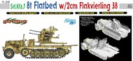 DML/Dragon Models  1/35 Sd.Kfz.7 8-Ton Flatbed Halftrack w/2cm Flak 38 Gun DML6583