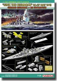 DML/Dragon Models  1/700 (Sink the Bismarck) May 26-27, 1941 - German Bismarck + RN Swordfish  DML7125