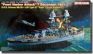DML/Dragon Models  1/700 U.S.S. Arizona BB-39 w/IJN Type 97 Kate Carrier Bomber, Pearl Harbor Attack 1941 DML7127