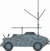 DML/Dragon Models  1/72 Sd.Kfz 261 Kleiner PzFuWg w/Telescopic Antenna- Net Pricing DML7447