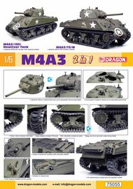 DML/Dragon Models  1/6 M4A3 105mm Howitzer /M4A3(75)W Tank (2 in 1) (LIMITED RELEASE) DML75055