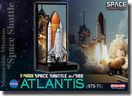 "Dragon Wings  1/400 Space Shuttle ""Atlantis"" w/SRB STS-71 - Memorable Mission of Space Shuttle (Space)- Net Pricing DRW56374"