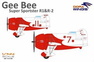 Dora Wings  1/144 Gee Bee Super Sportster R1/R2 Aircraft (2 in 1) DWN14402