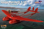"Dora Wings  1/72 Savoia Marchetti S-55 Record Flight Flying Boat Aircraft w/Resin Engine (9""L, 13"" Wingspan) DWN72015"