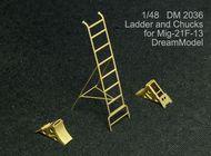 Dream Model  1/48 Mig-21F-13 Ladder and Chocks (TRP) DM2036