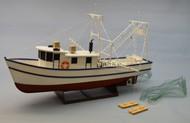 """Dumas Products  1/24 36"""" Rusty Coastal Shrimp Boat Kit (1/24) DUM1271"""
