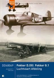Dutch Decals  1/48 Fokker D.XXI. Fokker G.1 LVA/Luftwaffe - Pre-Order Item DD48069
