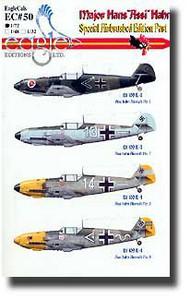 EagleCal Decals  1/32 Major Hans 'Assi' Hahn Pt.1 EL32050