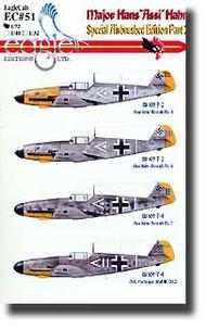 EagleCal Decals  1/32 Major Hans 'Assi' Hahn Pt.2 EL32051